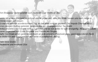 Hochzeit auf Schloss Staufenberg mit dem Impulschor
