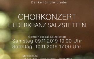 Chorkonzerte 09./ 10. November 2019